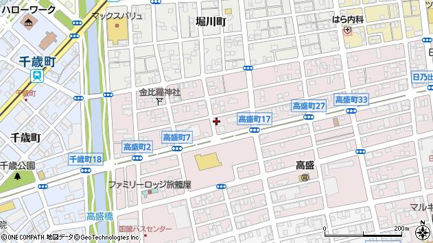 〒040-0024 北海道函館市高盛町の地図
