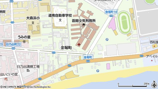 〒042-0944 北海道函館市金堀町の地図