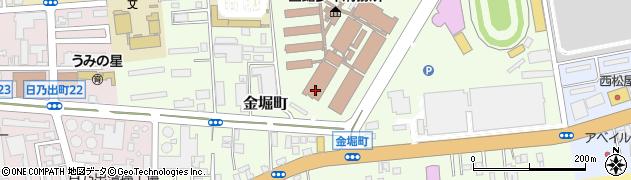 北海道函館市金堀町周辺の地図