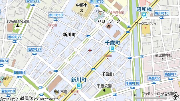 〒040-0032 北海道函館市新川町の地図