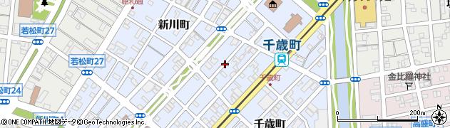 北海道函館市新川町周辺の地図