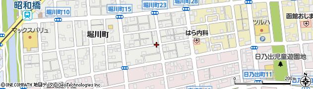 北海道函館市堀川町周辺の地図
