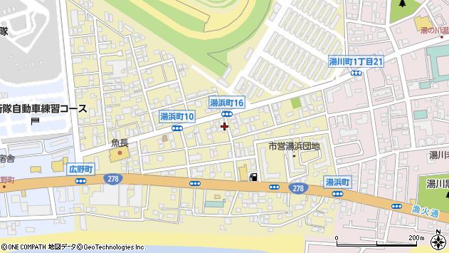 〒042-0933 北海道函館市湯浜町の地図