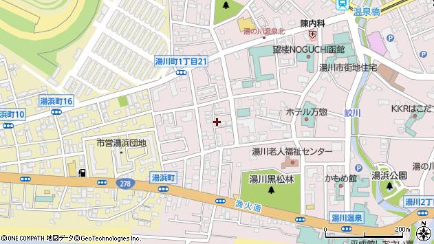 〒042-0932 北海道函館市湯川町の地図