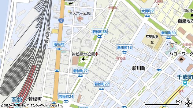 〒040-0063 北海道函館市若松町の地図