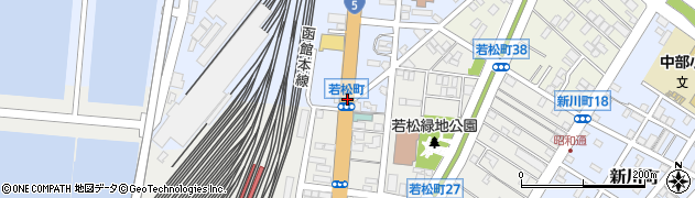 海岸町周辺の地図