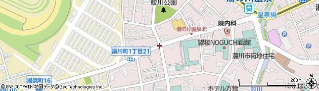 湯川町1‐19周辺の地図