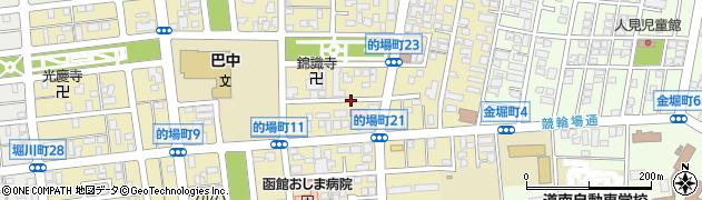 北海道函館市的場町周辺の地図