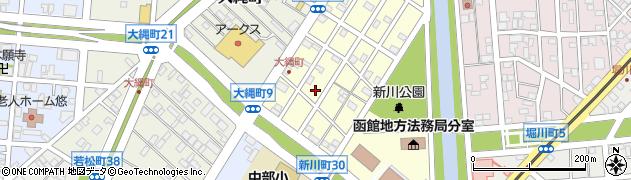北海道函館市上新川町周辺の地図