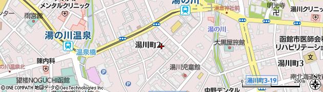 北海道函館市湯川町周辺の地図