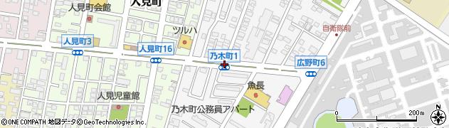 乃木町1周辺の地図