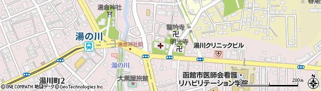 湯川寺周辺の地図