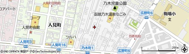 北海道函館市乃木町周辺の地図