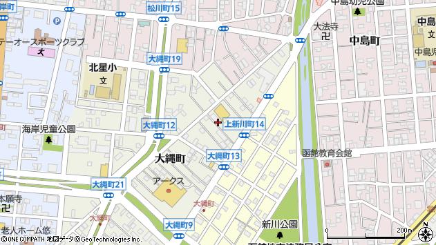 〒040-0062 北海道函館市大縄町の地図