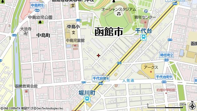 〒040-0013 北海道函館市千代台町の地図