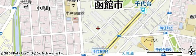 北海道函館市千代台町周辺の地図