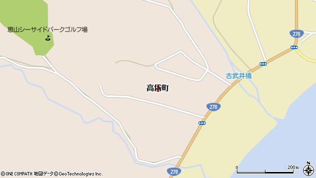 〒041-0526 北海道函館市高岱町の地図
