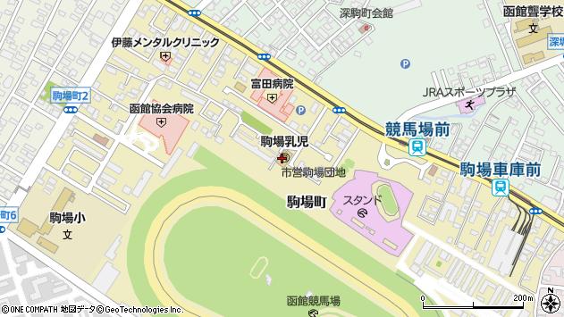 〒042-0935 北海道函館市駒場町の地図