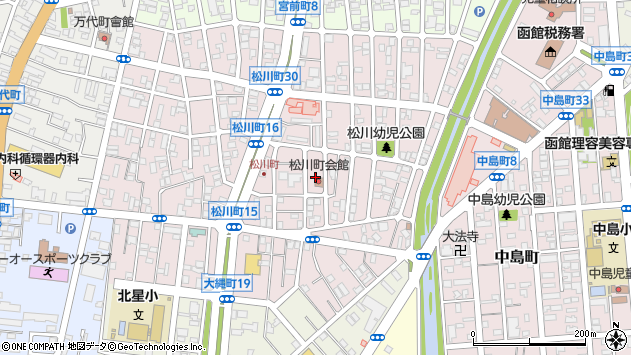 〒040-0074 北海道函館市松川町の地図