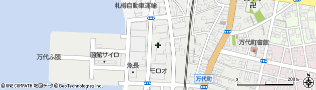 北海道函館市万代町周辺の地図