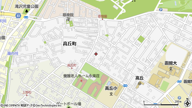 〒042-0955 北海道函館市高丘町の地図