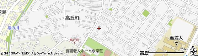 北海道函館市高丘町周辺の地図
