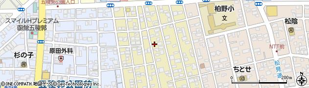 北海道函館市杉並町周辺の地図