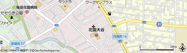 北海道函館市花園町周辺の地図