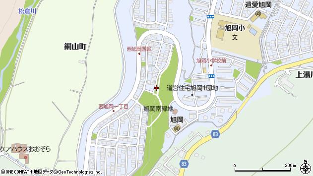 〒042-0915 北海道函館市西旭岡町の地図