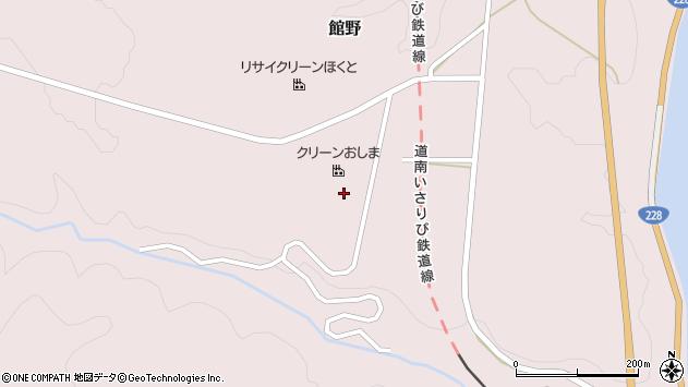 〒049-0132 北海道北斗市館野の地図