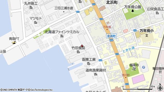 〒040-0076 北海道函館市浅野町の地図