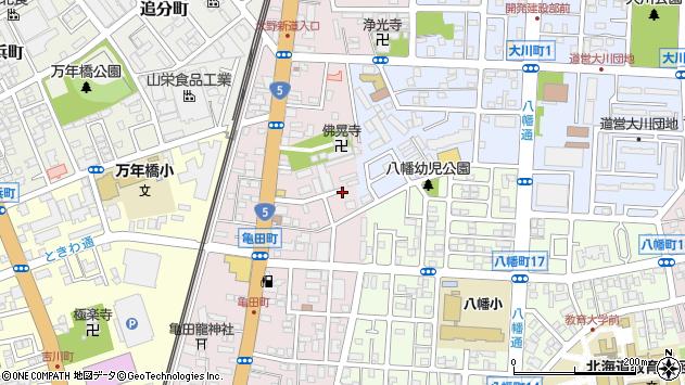 〒040-0072 北海道函館市亀田町の地図