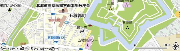 五稜郭公園表門広場前トイレ周辺の地図