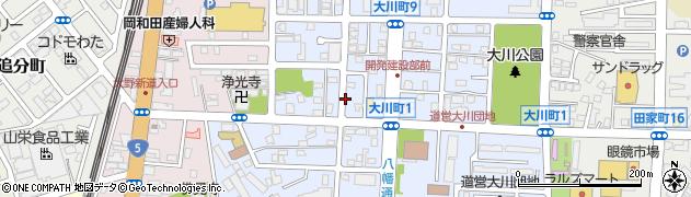 北海道函館市大川町周辺の地図