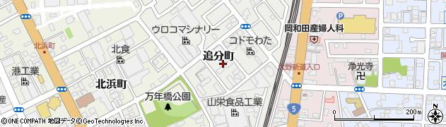 北海道函館市追分町周辺の地図
