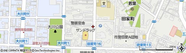 北海道函館市田家町周辺の地図