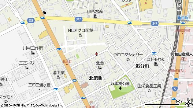 〒040-0078 北海道函館市北浜町の地図