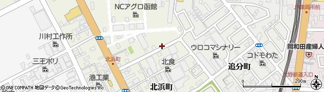 北海道函館市北浜町周辺の地図