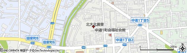 北大北晨寮周辺の地図