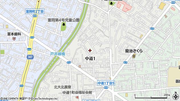 〒041-0853 北海道函館市中道の地図