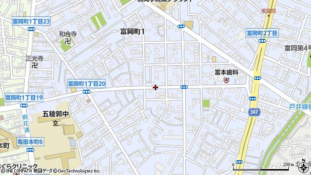 〒041-0811 北海道函館市富岡町の地図