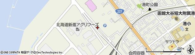 北海道函館市港町周辺の地図
