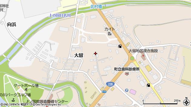 〒049-0611 北海道檜山郡上ノ国町大留の地図