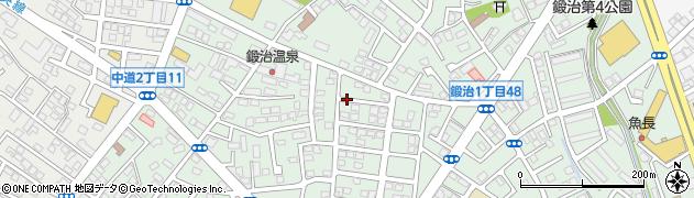 北海道函館市鍛治周辺の地図