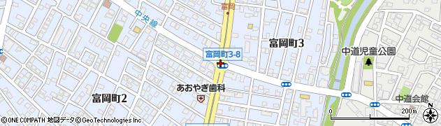 富岡町3‐8周辺の地図