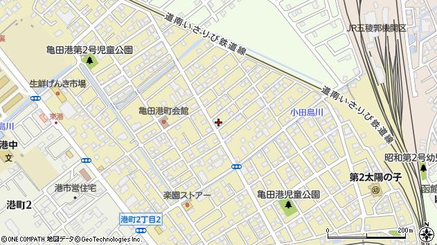 〒041-0822 北海道函館市亀田港町の地図
