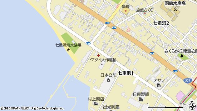 〒049-0111 北海道北斗市七重浜の地図