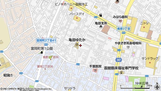 〒041-0806 北海道函館市美原の地図