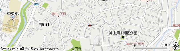 北海道函館市神山周辺の地図