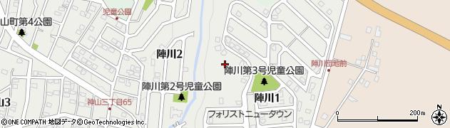 北海道函館市陣川周辺の地図